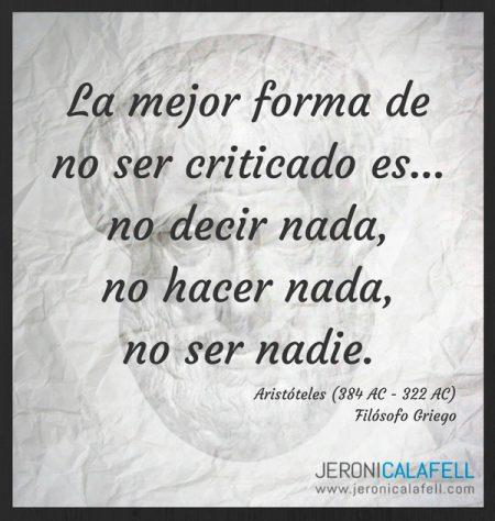 Frase Célebre Aristóteles – Críticas