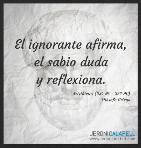 Frase Clebre de Aristteles para Reflexionar Jeroni Calafell