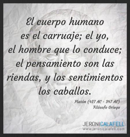 Frase Célebre Platón El Cuerpo Humano Jeroni Calafell