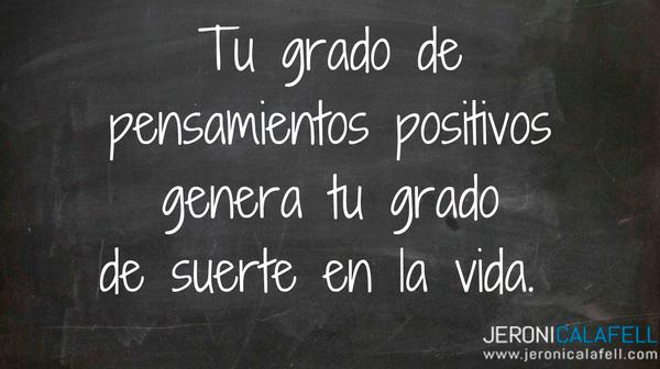 pensamientos positivos