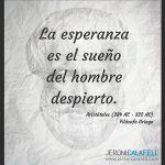 Frase célebre Aristóteles – La Esperanza