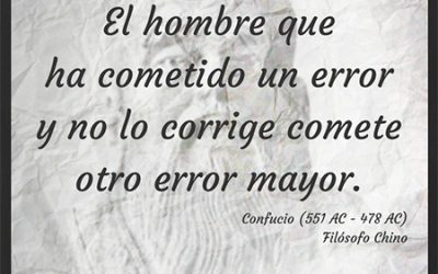Frase célebre Confucio – Error mayor