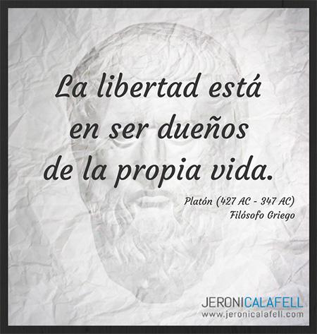 Frase célebre Platón – La Libertad