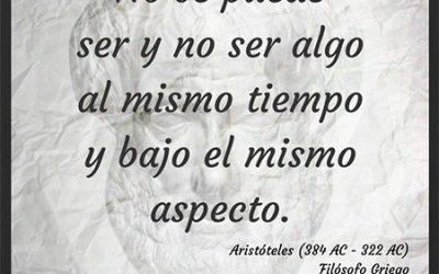 Frase célebre Aristóteles – Ser y no ser al mismo tiempo