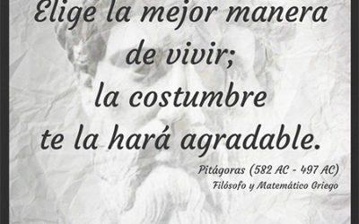 Frase célebre Pitágoras – Manera de vivir
