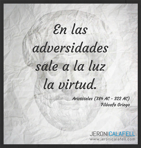 Frase célebre Aristóteles – La Virtud