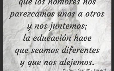 Frase célebre Confucio – La Educación nos diferencia