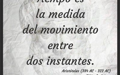Frase célebre Aristóteles – Tiempo