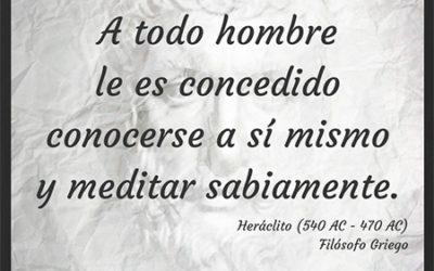Frase célebre Heráclito – Conocerse y meditar